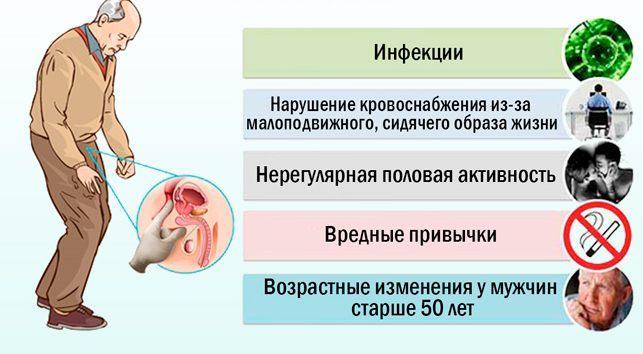 Причины образования гиперплазии простаты