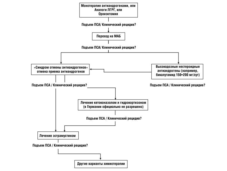 Общая схема лечения резистентного рака