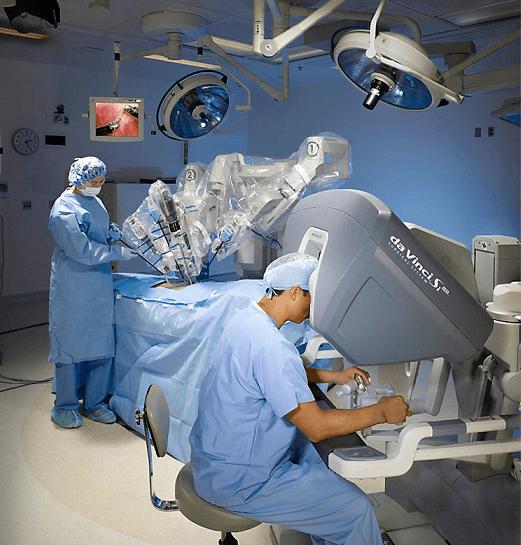 Простатэктомия при помощи системы Да Винчи под управлением хирурга