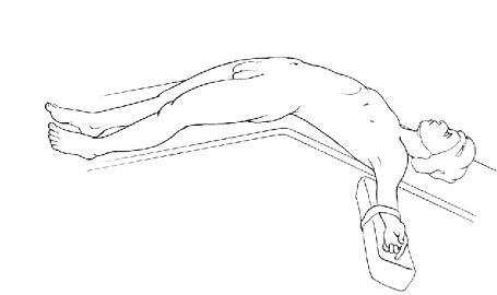 Положение пациента при позадилобковом доступе