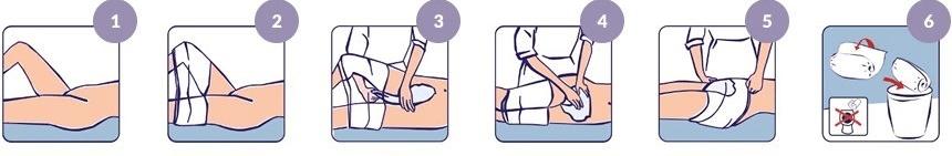 Как надеть открытый памперс на лежачего
