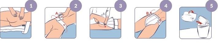 Как надеть поясной памперс на лежачего