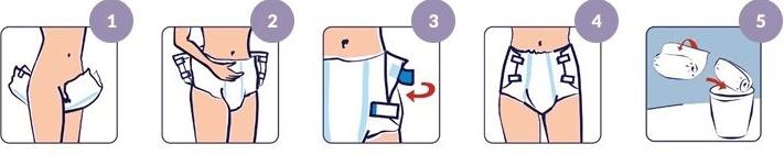 Как надеть закрытый памперс самому