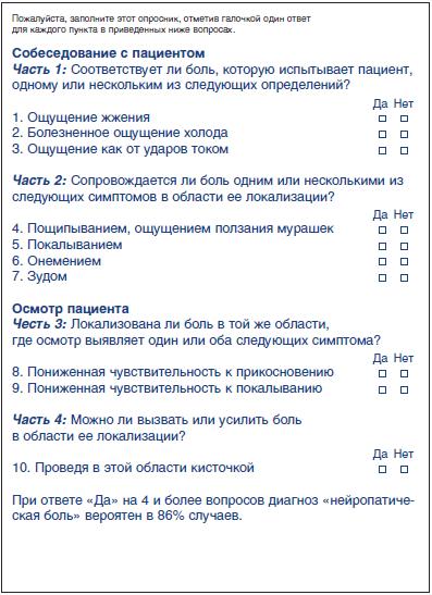 опросник (DN4)