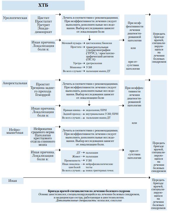 Схема диагностики СХТБ