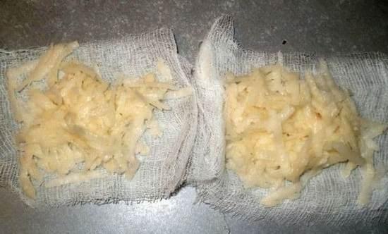 Компресс из натертого картофеля