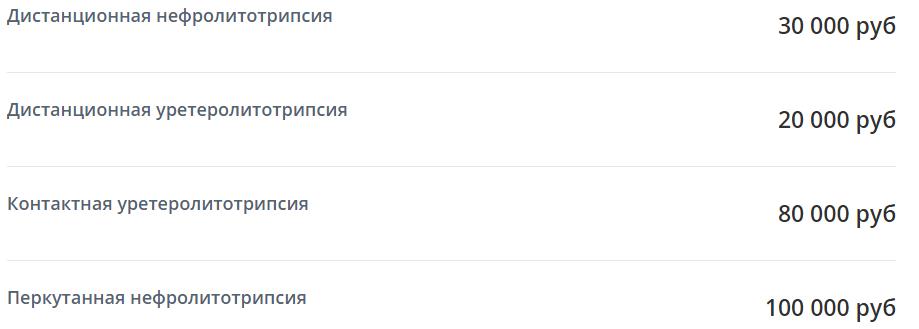 Цены на примере Амбулаторного центра 69, Москва