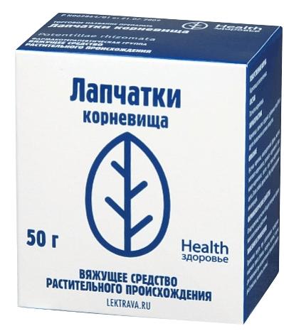 Лапчатка от фирмы «Здоровье»
