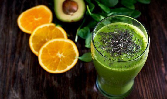 Фреш из авакадо и апельсинового сока