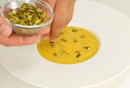 Суп-пюре с тыквенными семечками